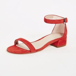 Stuart Weitzman Red Suede Sandals 6.5